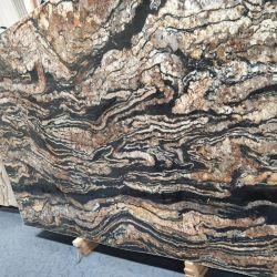 골드 및 블랙 색상 3cm Granite Slab