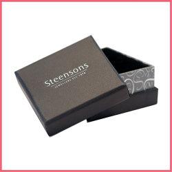 Contenitore impaccante stampato abitudine di regalo dei monili del braccialetto dell'anello della collana del documento del cartone con la timbratura calda dell'oro