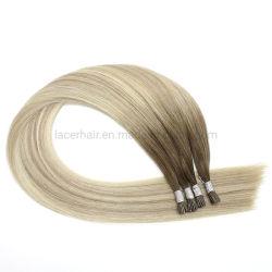 Super calidad Pre-Bonded Remy natural humana las cutículas alineados natural virgen sin procesar yo Punta Hair Extension