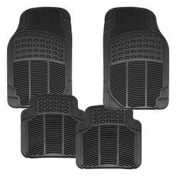 High-Grade todos los modelos de PVC 4 piezas Conjunto completo de caucho negro resistente al agua coche alfombrillas