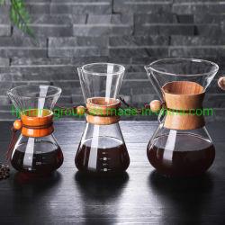 Creatore di caffè di vetro di nuovo disegno con gli strumenti della griglia