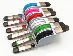 O logotipo OEM iPhone Android Market Comprimento ajustável cabo USB retráctil