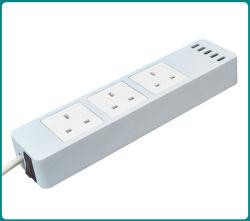 Britannici 3 prese con lo zoccolo Port di estensione del USB 5*5V, striscia di potere di MI