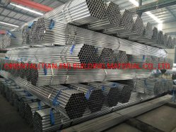 Feux de tuyau en acier galvanisé à chaud filetés et couplées, capuchon en plastique