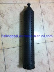 Tapparella nera in plastica per la pesca di tackles