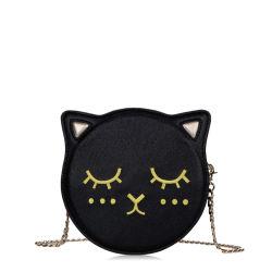 Karikatur gestickter Katze-Kreis-Handtaschen-Kreuz-Leichensack