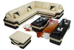 Commerce de gros 7 siège canapé moderne à bon marché de meubles de style nordique relaxant doux Tissu canapé de la table de mobilier de bureau