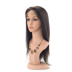 Glutlose Spitze Vorne Damen Hochwertige Schwarze Haare, Gerade, Menschliche Haare Ersatz