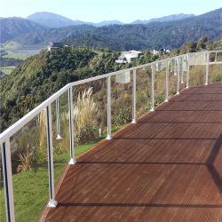 Pont en aluminium balustrade Panneaux de verre