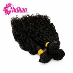 Corpo de cor natural onda profunda Virgem Natural Reta Cabelos Indiano Brasileiro pêlos de pacote de tafetá com tampa de cabelo humano