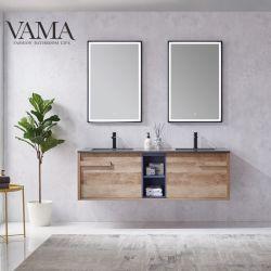 Vama 63 pouces de meubles de luxe en bois massif salle de bain Salle de bains Vanity 791063