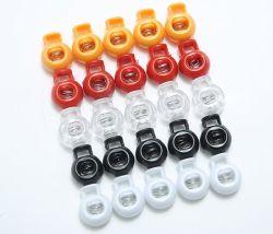 Trou unique en plastique multicolore printemps boucles Accessoires Bagages cordon corde