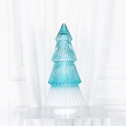 Mesa de cristal lámpara a pilas el LED parpadea la luz central de celebración de carnaval//Navidad