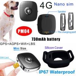 2020 neuer Haustier-Hundeintelligenter Verfolger GPS der Qualitäts4g Waterprof mit 730mAh Batterie Pm04