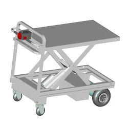 Plataforma de mano eléctrico de transporte del carro carro elevador