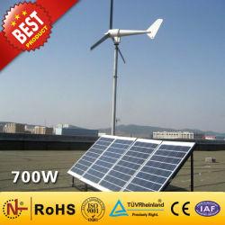 Sistema di generatore ibrido solare del vento della centrale elettrica di /Solar della turbina della centrale elettrica del vento /Wind (700W) per il sistema solare domestico del laminatoio di vento di energia eolica di uso