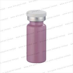 피부를 위한 핑크 원형 앰플 튜브 유리 병