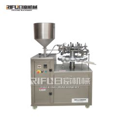 Tandpasta/Zalf/Geneesmiddel/Voedsel/de Kosmetische Semi Automatische Plastic Zachte/het Verzegelen van de Buis van het Aluminium Vullende Machines van de Verpakking/van de Verpakking/van het Pakket