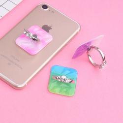 Bague diamant personnalisé gratuit doigt la poignée de rotation de 360 degrés Téléphone portable personnel Support de bague de support pour cadeau promotionnel