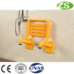Madera de alta calidad en la pared plegado de baño con ducha/WC Silla Muebles de asiento