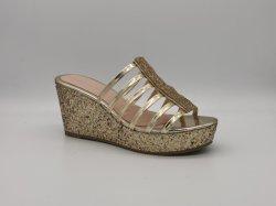 Lantejoulas Moda saltos de cunha para senhoras sandálias para senhoras chinelos