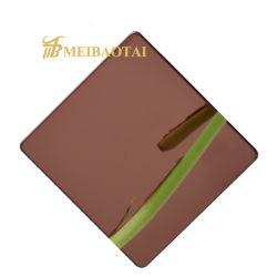 Grau de qualidade elevado 304 201j1 J2 4X8 PVD revestimento de cor prata Broze Green ouro azul 0.4 espessura quadro decorativos de chapa de aço inoxidável de instrumentos