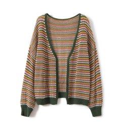 Sweater tejido señoras Cardiganak patrón lujoso suéter20622