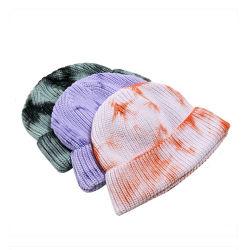 Custom tie dye Beanie Hat chapeaux d'hiver pour les femmes Fashion hiver Cap lavable godet de la Chine pliable Hat pêcheur Stock Hat