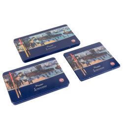 صندوق القصدير - 24/36/48/72 لون تشونغهوا العلامة التجارية 9092 المدرسة العرض مجموعة قرطاسية إمداد المكتب هدية ملونة للماء