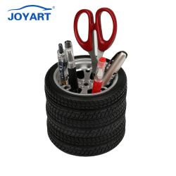 Conteneur de plume de voyage créatif cadeau de promotion Porte-stylet Mug pneu en acier inoxydable simple Design Accueil