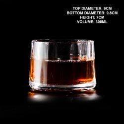 위스키 북유럽 스타일의 와인 글래스 300ml 유리 Creative Round Shape Gin, 브랜디, 위스키 글래스 컵