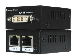 De Vergroting van Duallink DVI 4K UHD over CAT6, de Afstand van de Uitbreiding tot 100m