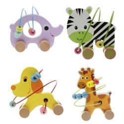 لعبة الأطفال لعبة تعليمية الحيوانات حول لعبة الخرز الخشبية