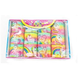 6.5Cm haut la vente de l'impression Unicorn Rainbow cercle coloré des jouets