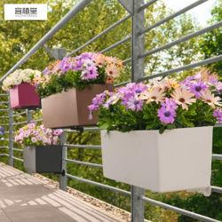 حوض الزهور المموّن على الجدار زخرفة بلاستيكية الوعاء الزهرة العامة الزهرة
