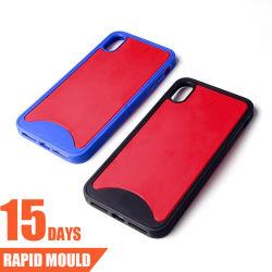 اثنان لون - في - واحدة هاتف حقيبة تغطية قالب حقن بلاستيكي للقطة مزدوجة للقطة
