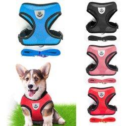 Ademend harnas voor kleine hondenhuisdieren en riem-set voor puppy's Vest Harness kraag voor Chihuahua Pug Bulldog Cat Arnes Perro