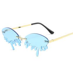 Daisyer 2020 Luxuxform-kleine halber Rahmen-MondRhinestonessun-Glas-Frauen-Diamant-Weinlese-Sonnenbrillen