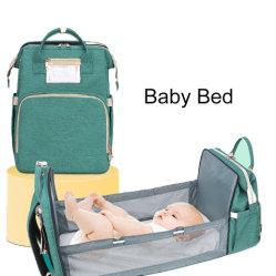 Nylon elegante Múmia/Fralda diariamente o Saco de Fraldas para cuidar do bebê