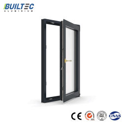 Los materiales de construcción de aluminio residencial de doble vidrio interior perfil de aluminio Casement Window