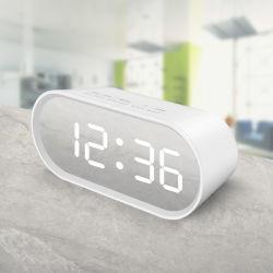 大きい表示デジタルか居眠りのメモリおよび温度機能の電子ミラー机または表アラームタイムレコーダー