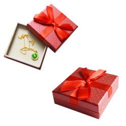 مصنع يدويا بالجملة صغيرة عرض بطاقات Ppaer أرخص هدية حمراء صندوق