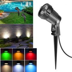 9W 옥외 LED 조경 빛 경로 전구 온난한 백색 반점 빛 110-240V는 공원 잔디 거리를 위한 정원 잔디밭 램프를 방수 처리한다
