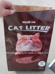 Saco de papel para lixo de gato Embalagem de papel multicamada Saco Kraft