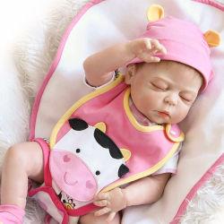 Reborn Baby Doll 22 pulgadas recién Gentle-Touch realistas de vinilo de muñecas de silicona del recién nacido niño durmiendo con la siembra de secador de regalo de cumpleaños para 3+
