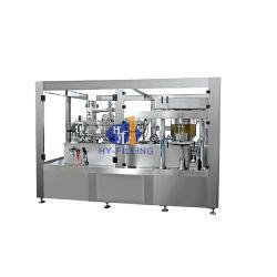 炭酸清涼飲料を作る自動アルミ缶の充填機