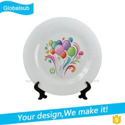 La impresión personalizada de la placa de cerámica de la sublimación blancos