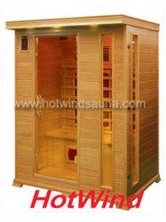2019 de Verre Infrarode Sauna van de Zaal van de Sauna Draagbare Houten voor 3 Mensen (sek-DP3)