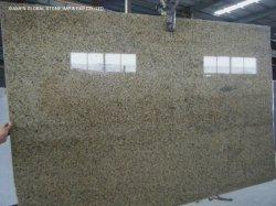 رخام طبيعي عالي الجودة/ألواح من الكوارتزيت مقطعة إلى حجم البلاط تشانثيوم جرانيت مصقول أصفر لتغطية جدار الأرضية في الداخل