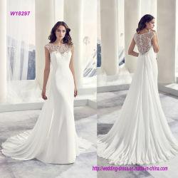 Detrás alineada de boda moldeada y plisada lujosa